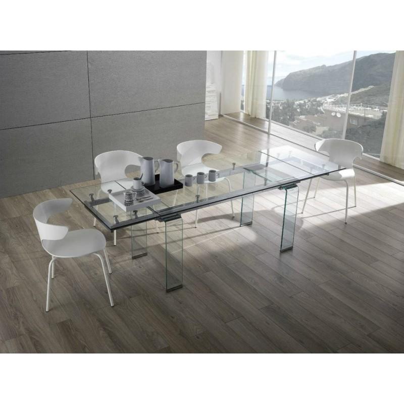 Zamagna glasses tavolo cristallo wedu design - Tavolo cristallo design ...