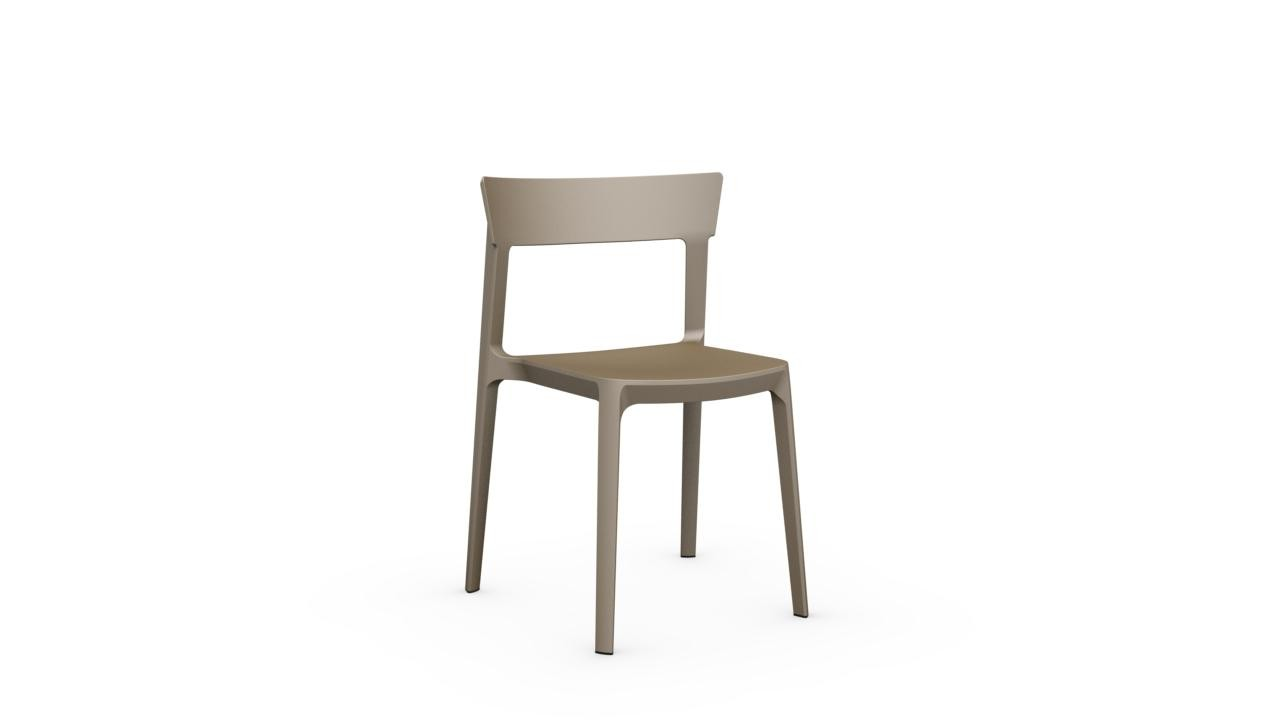 sedia skin calligaris bianca