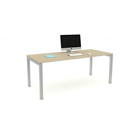 Las scrivania OXI con gambe a ponte L180xP80xH72