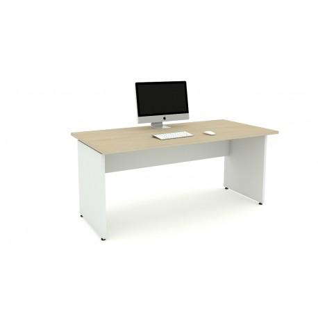 Las scrivania OXI fianchi in legno L140xP80xH72