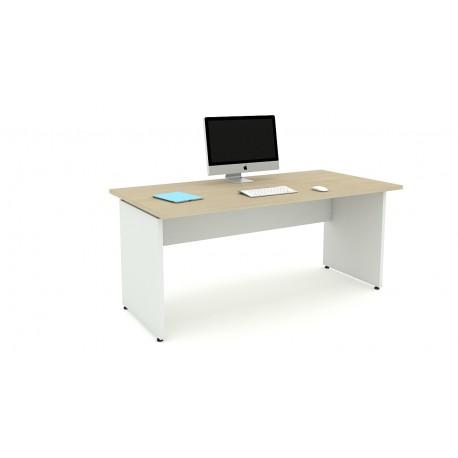 Las scrivania OXI fianchi in legno L180xP80xH72